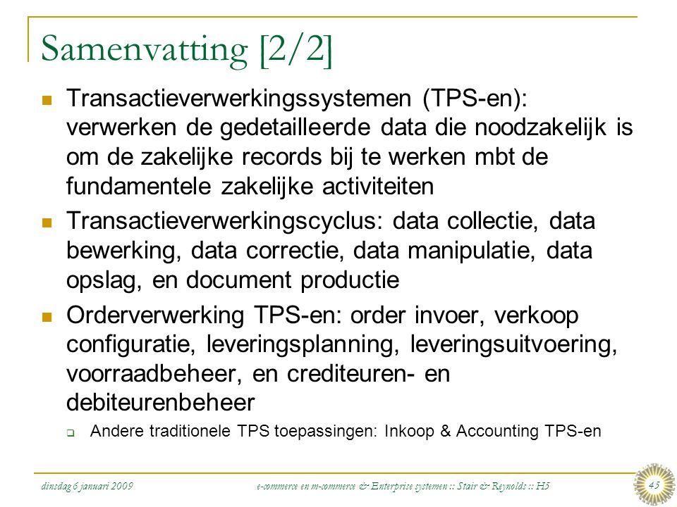Samenvatting [2/2]